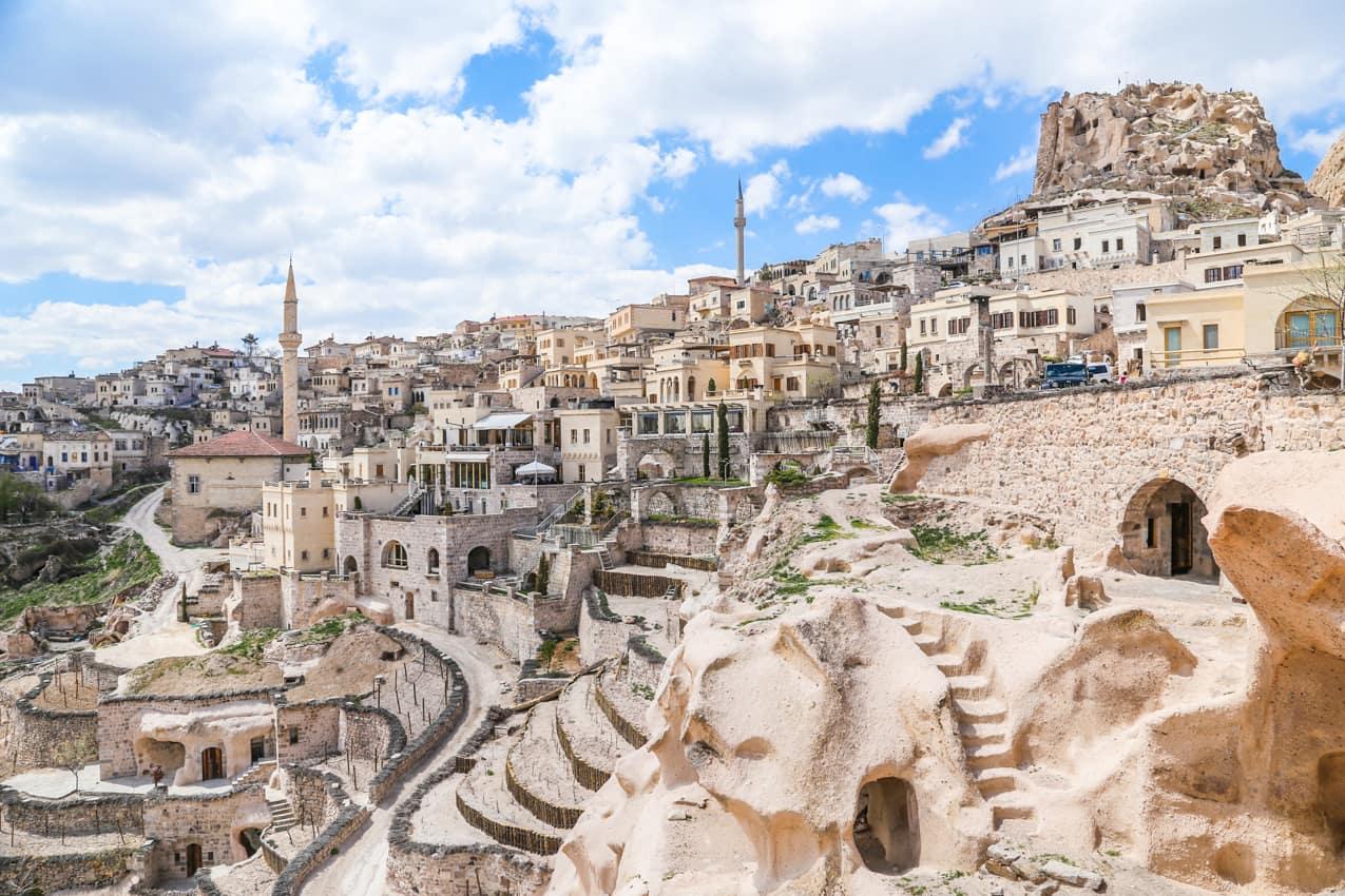 Ponto turístico, Cidade Antiga, Capadócia, Turquia