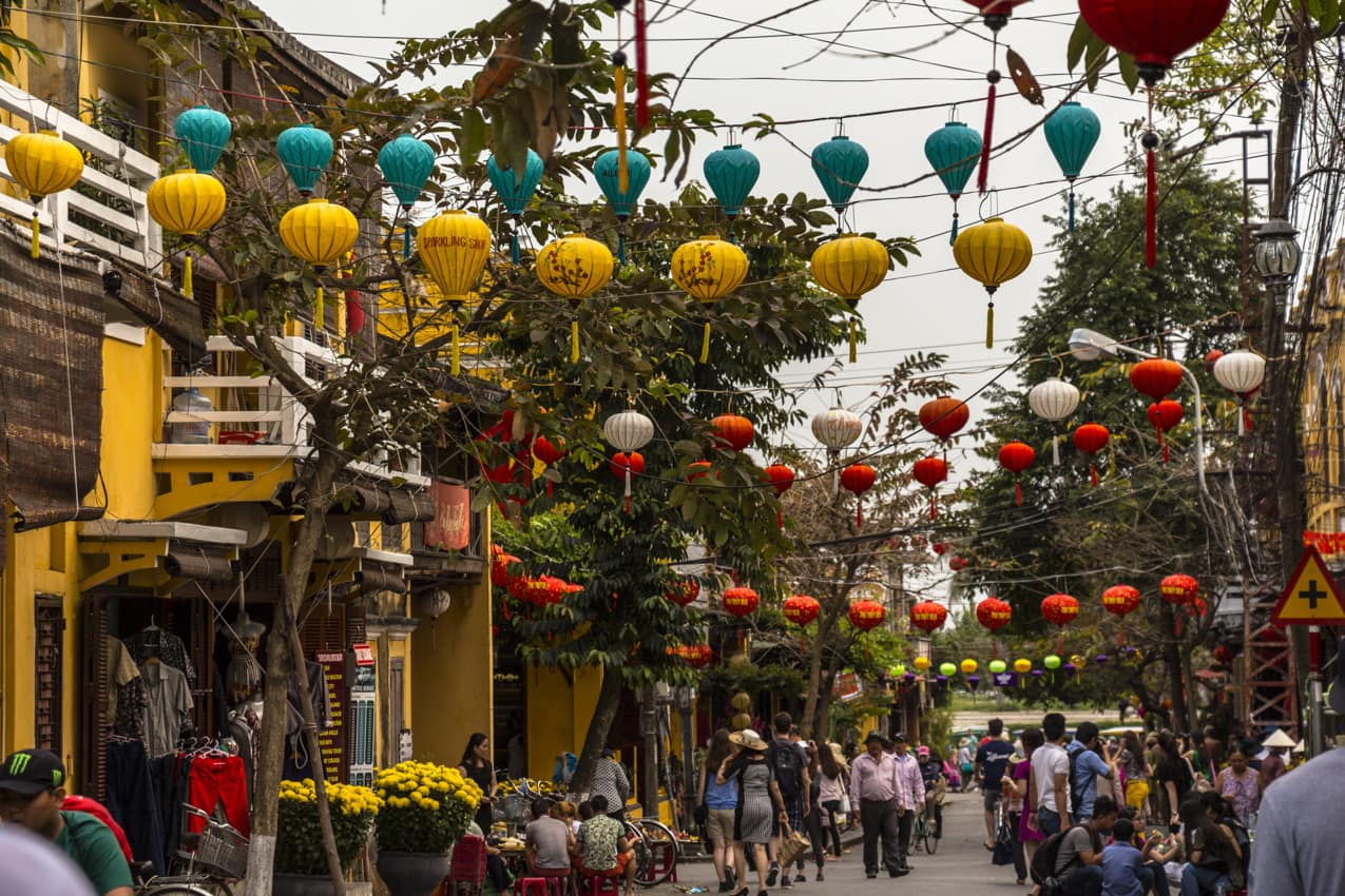 Lanternas cidade antiga, Hoi An, Vietnã