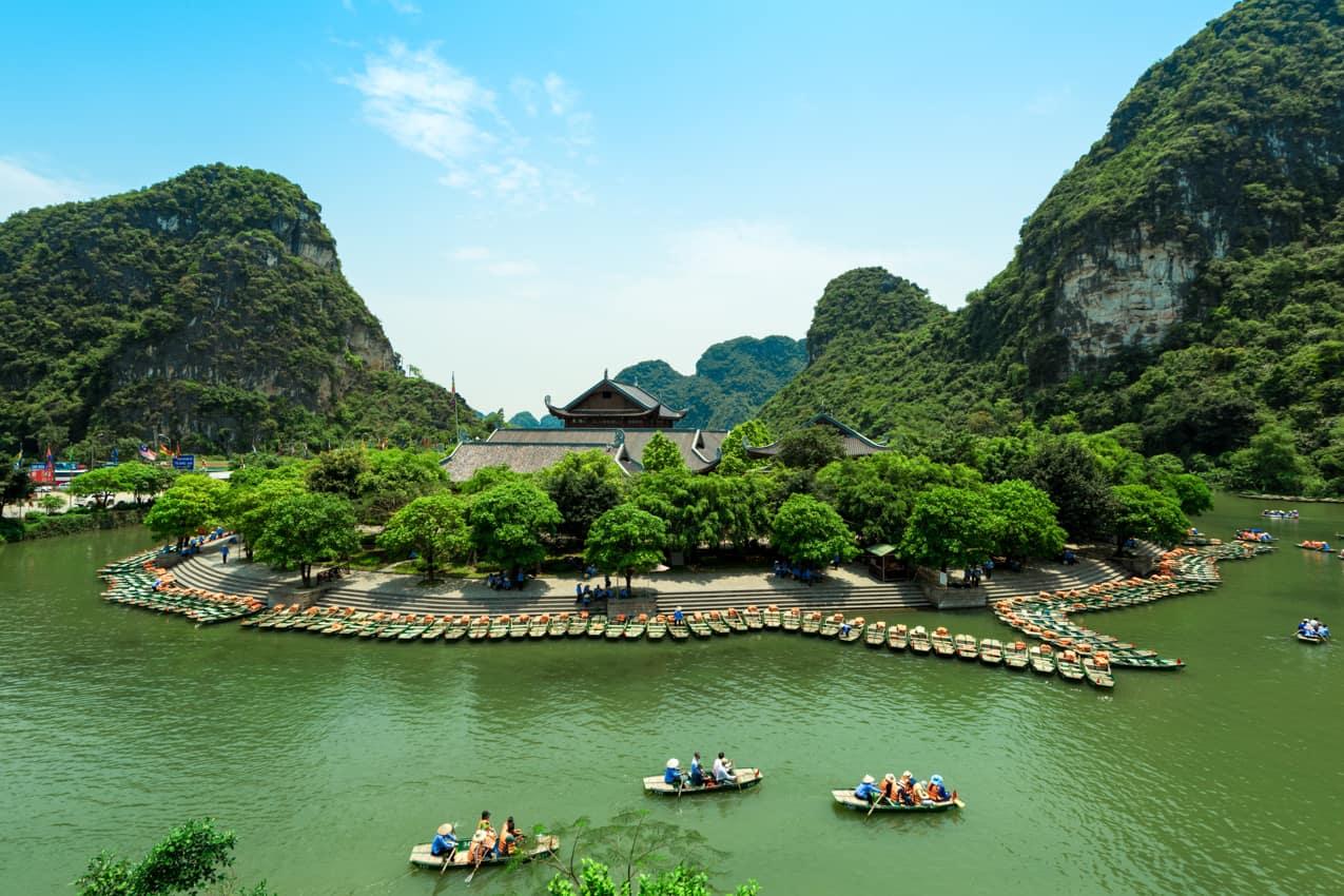 Patrimônio UNESCO Trang An, Halong Bay, Vietnã