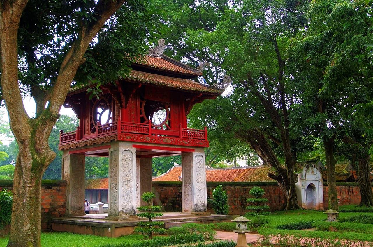 Templo da Literatura em Hanói - Vietnã