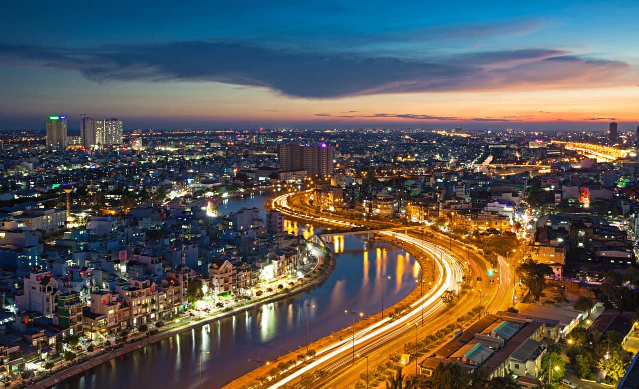 Vista aérea Ho Chi Minh City, Vietnã