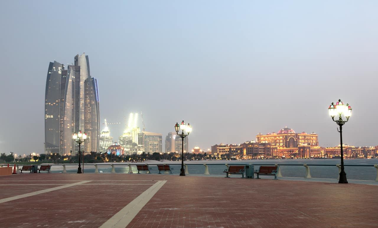 Vista Abu Dhabi Emirados Árabes