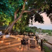 Lion sands ivory lodge area de jantar