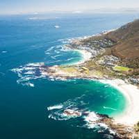 Vista aérea costa Cidade do Cabo África do Sul