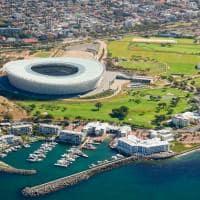 Vista aérea estádio Cidade do Cabo África do Sul