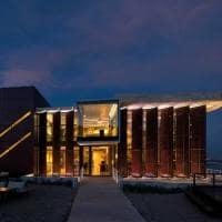 Vista noturna casa de uco