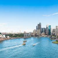 Vista aérea Circular Quay e Opera House Sydney