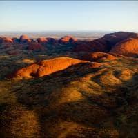 Vista aérea the Olgas Kata-Tjuta, Austrália