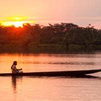 Amazonia indio barco