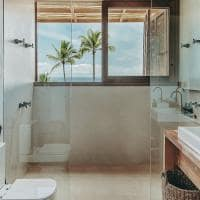 Banheiro suite barracuda beach hotel