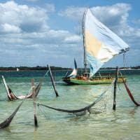 Barcos em lagoa de Jericoacoara.