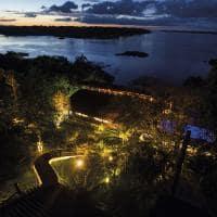 Mirante do gaviao vista aerea noite
