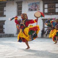 Apresentação artística Mongar Butão