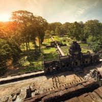 Vista aérea Angkor Wat Camboja