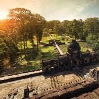 Vista aérea em Angkor Wat - Camboja