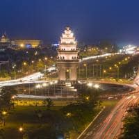 Vista aérea Phnom Penh Camboja