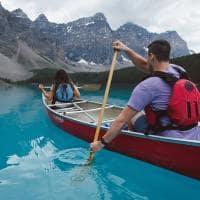 Canoagem no Banff National Park