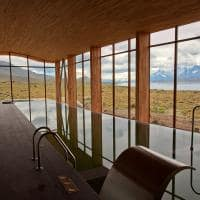Tierra patagonia vista piscina