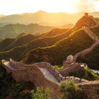 Muralha china por sol