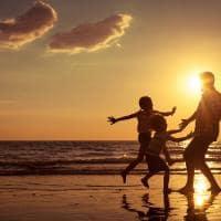 Familia praia costa rica