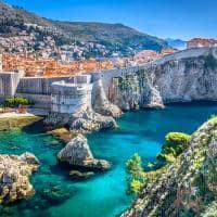 Vista aérea da cidade antiga de Dubrovnik