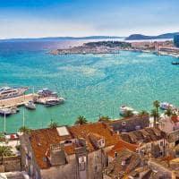 Vista panorâmica de Split, Croácia.