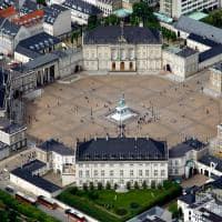 Vista aérea do Palácio Amalienborg.