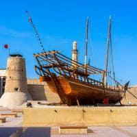 Ponto Turístico. Forte Al Fahidi, Museu de Dubai, Dubai, UAE