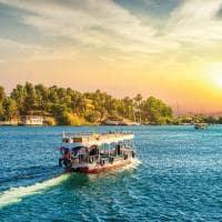 Navegação pelo rio Nilo, no Egito
