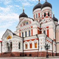 Catedral Alexander Nevsky, na cidade velha de Taline - Estônia.