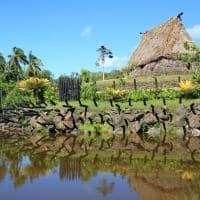 Arquitetura local casa tradicional Ilhas Fiji