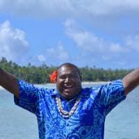 Bula! Fijiano saudando os visitantes