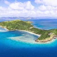 Vista aérea ilha Yaukuve Levu, Kokomo Private Island Resort