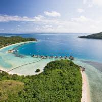 Vista aérea, Likuliku Lagoon Resort