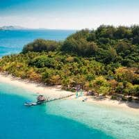 Vista aérea Malolo Island