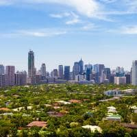 Vista aérea de Manila, Filipinas