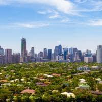 Vista aérea Manila Filipinas