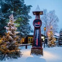 Termômetro na Vila do Papai Noel - Lapônia, Finlândia.