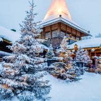 Vila do Papai Noel, na Lapônia.