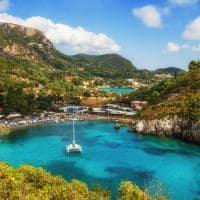 Baia Paleokastritsa Corfu, Grécia