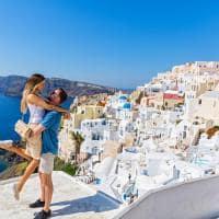 Casal em Santorini - Grécia