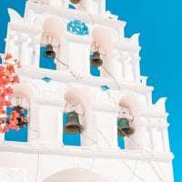 Detalhes de Pyrgos, Santorini.