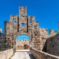 O forte da cidade de Rodes - Grécia.