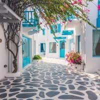 Pelas ruas de Santorini, Grécia.
