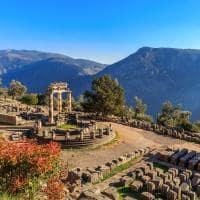 Templo de Atena Pronaia - Antiga Delphi.