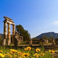 Templo de Atena Pronaia, nas ruínas de Delphi