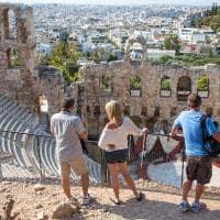 Turistas em Atenas - Grécia