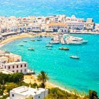 Vista aérea Miconos, Grécia