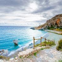 Vista da praia Preveli - Creta, Grécia.