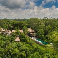 Vista aérea do Alila Ubud